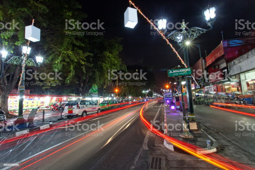Malioboro Street at night stock photo