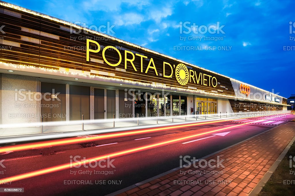 Mall at Orvieto - Porta di Orvieto stock photo