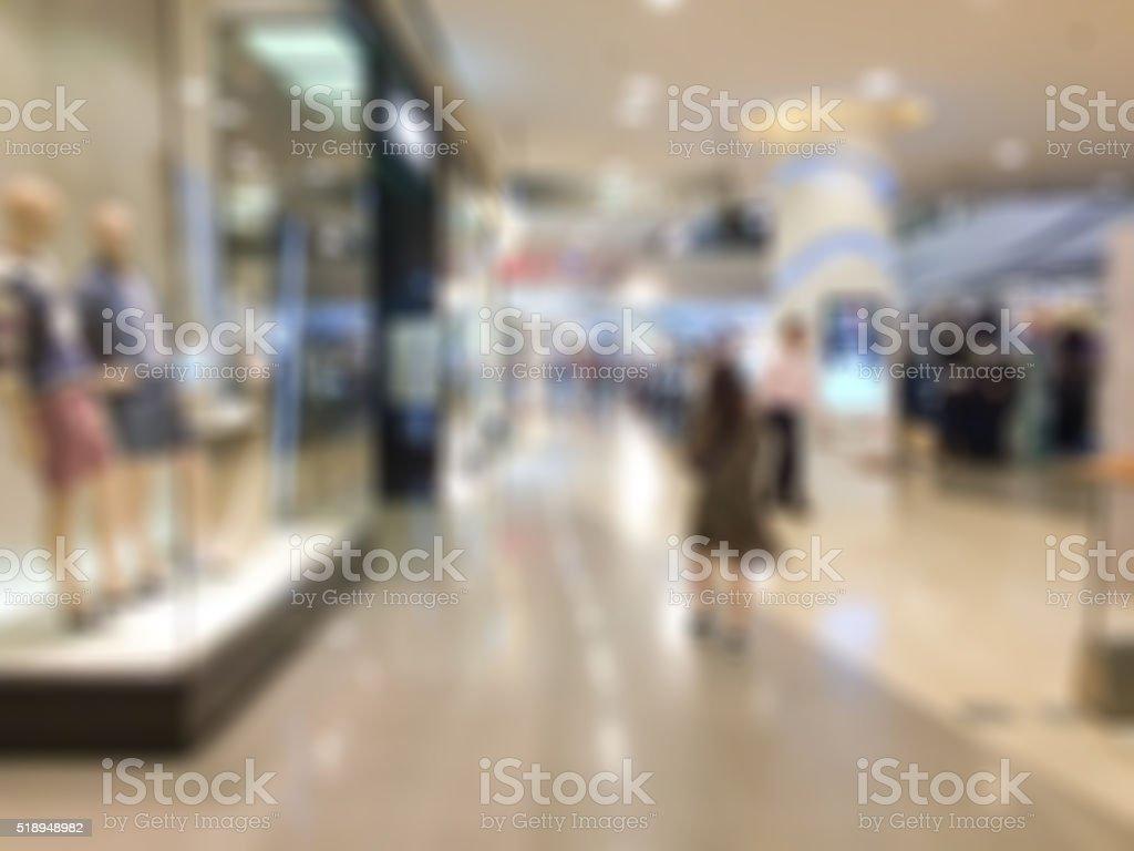 mall blur stock photo
