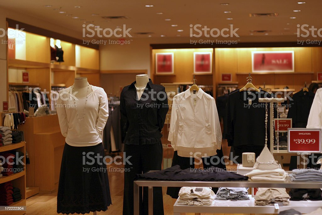 Mall Clothing for Women royalty-free stock photo