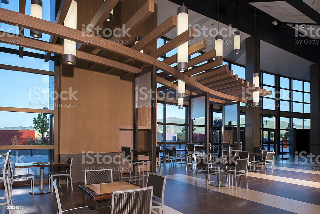 Mall Food Court stock photo