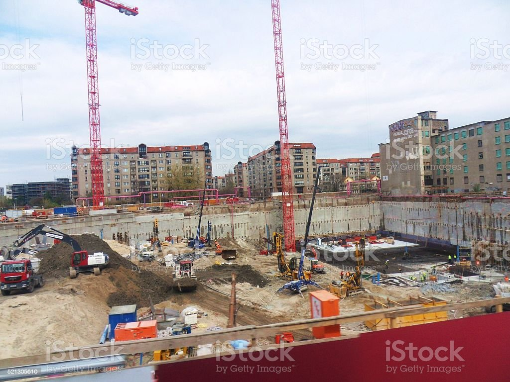 Mall of Berlin - Cantiere stock photo