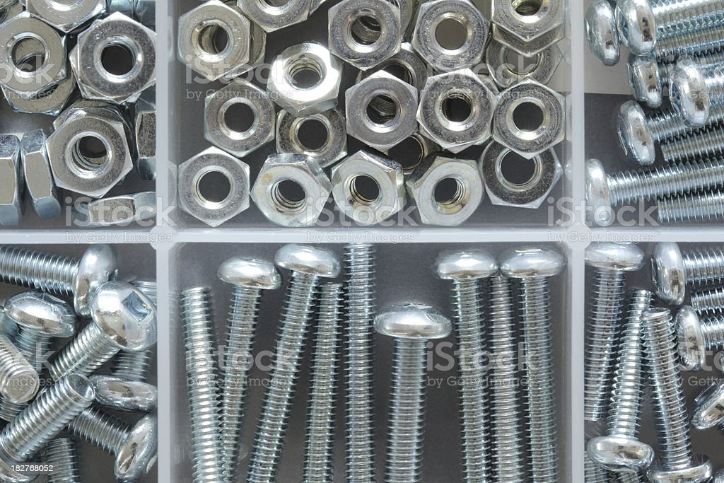 Mall Screws and Nuts Kit royalty-free stock photo