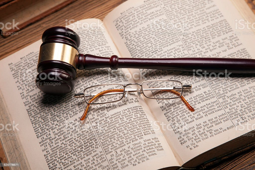 Mallet of justice! stock photo