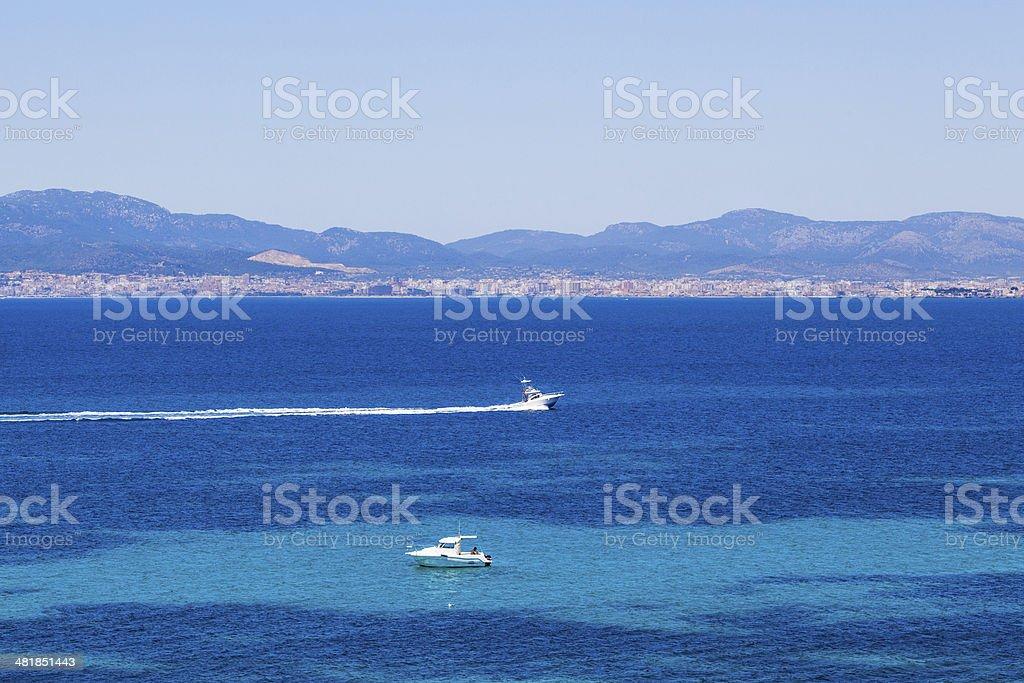 Mallorca, Spain. Top view stock photo