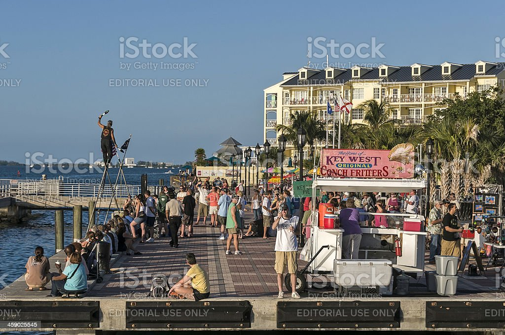 Mallory Square in Key West Florida royalty-free stock photo