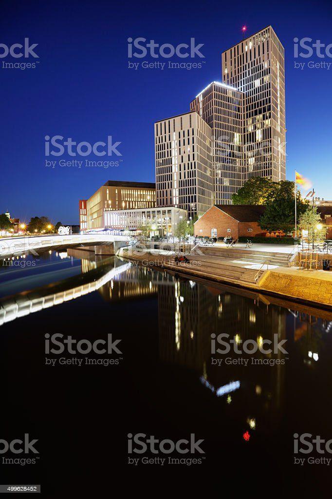 MalmoLive Hotel on canal stock photo