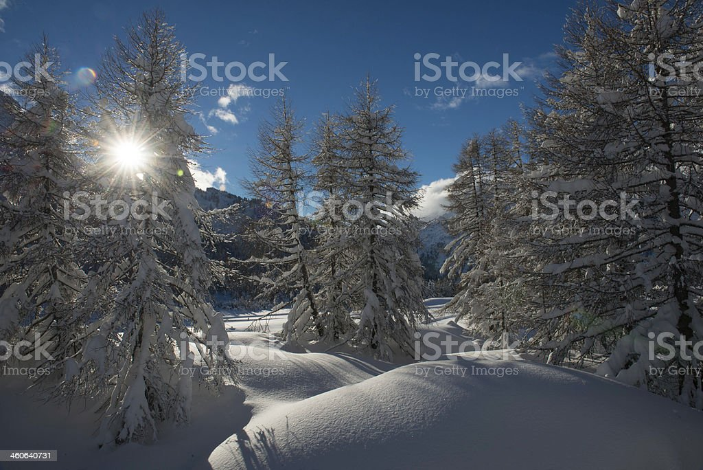 Maloja in the Engadine stock photo