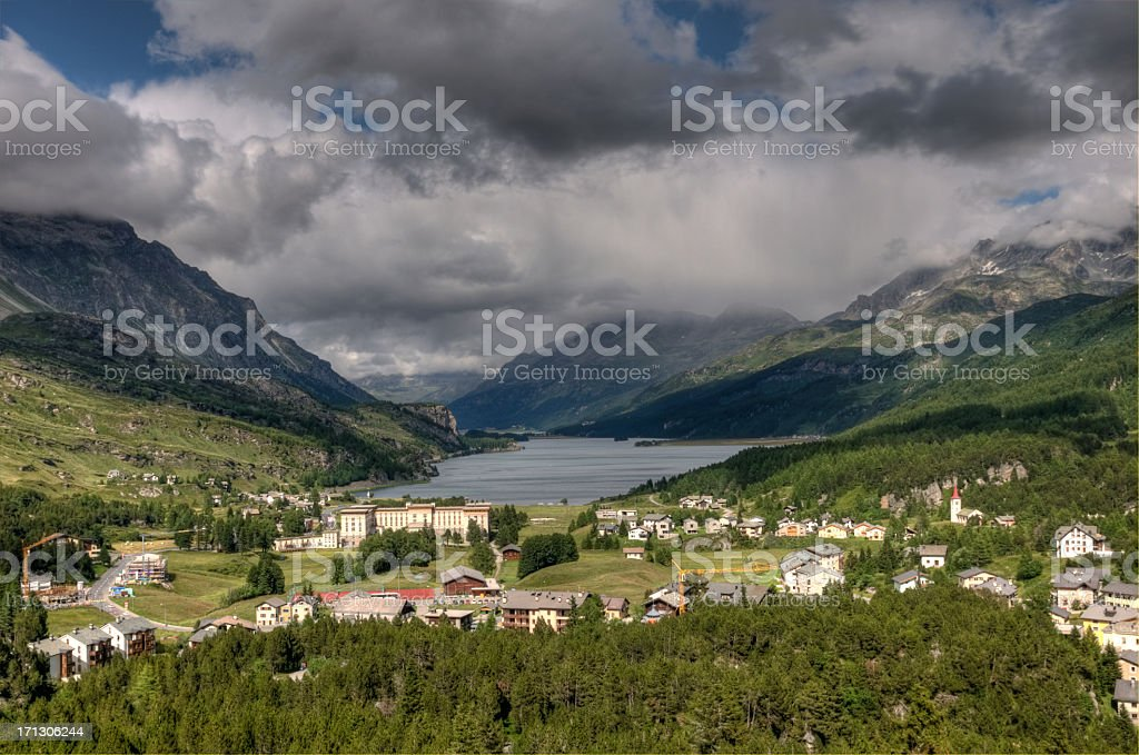 Maloja royalty-free stock photo