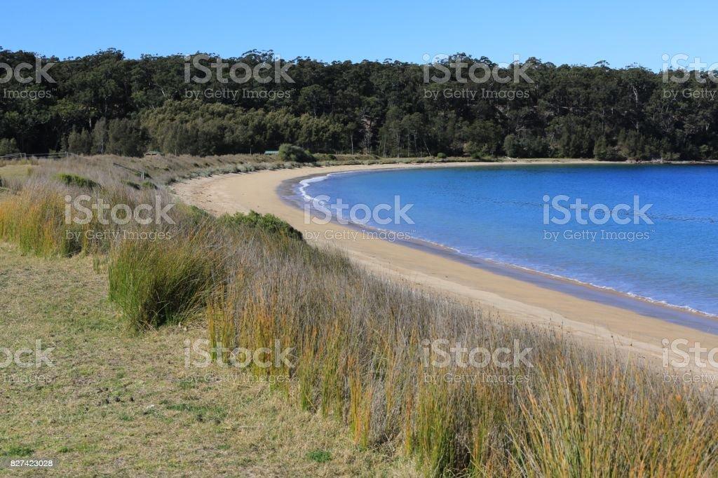 Maloneys Beach in Batemans Bay Australia stock photo