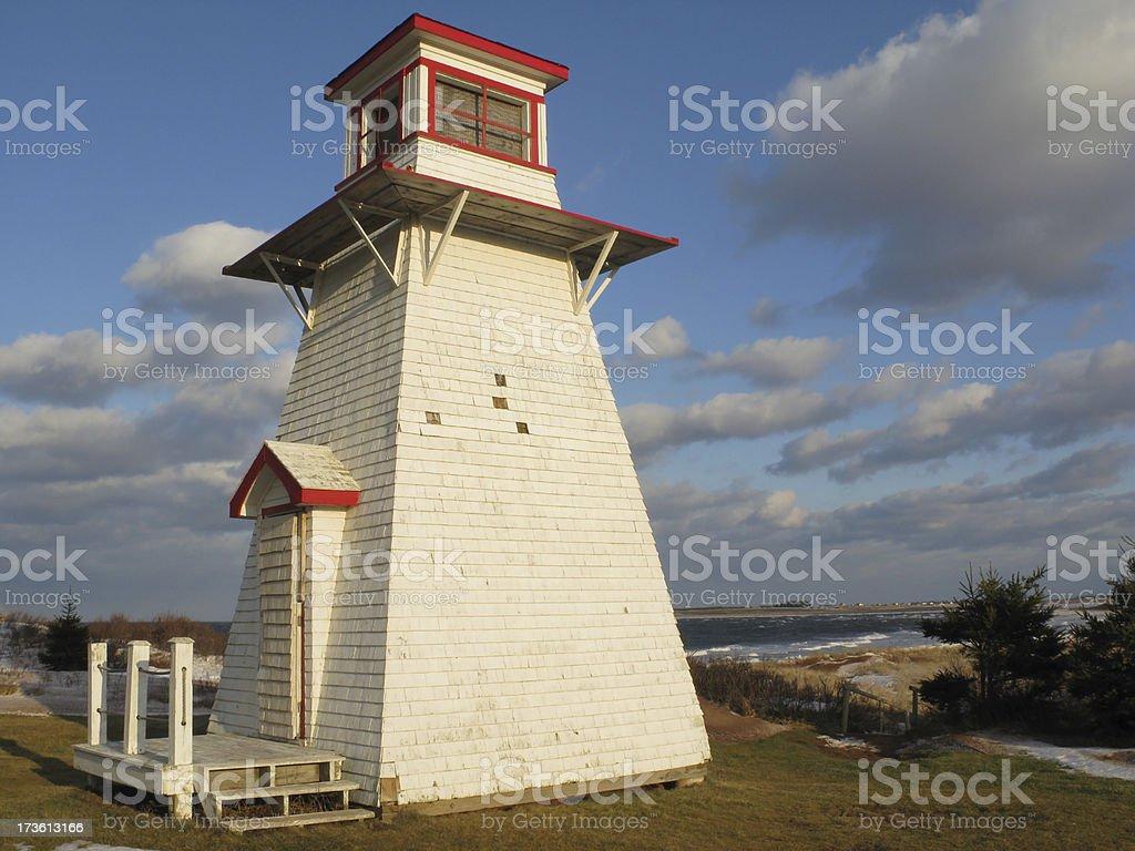 Malpeque Lighthouse, Prince Edward Island. stock photo