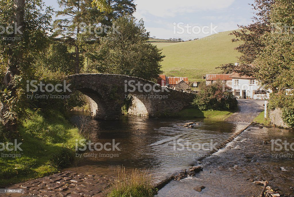 Malsmead,Lorna Doone country,Exmoor,Devon,England stock photo