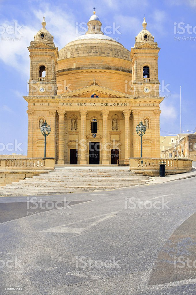 Malta, church in Haz-Zebbug stock photo