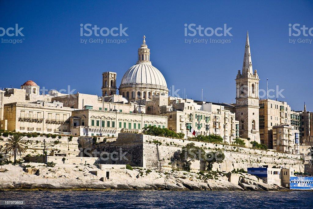 Malta Harbor Valetta stock photo