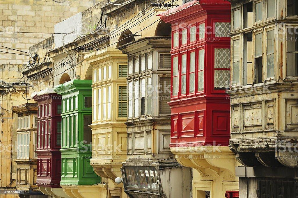 Malta windows stock photo