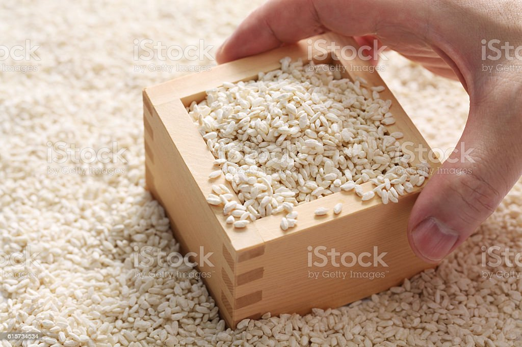 malted rice, japanese fermentation food stock photo