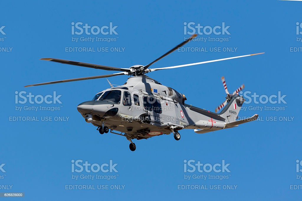 Maltese Armed Force SAR Helicopter stock photo