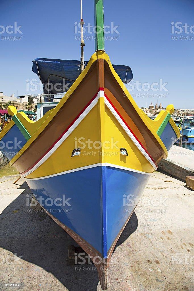 Maltese boat royalty-free stock photo