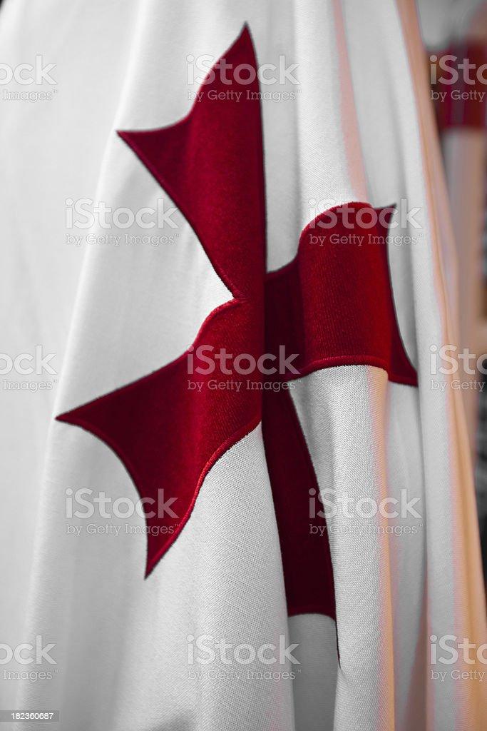 Maltese cross of Knight Templar stock photo