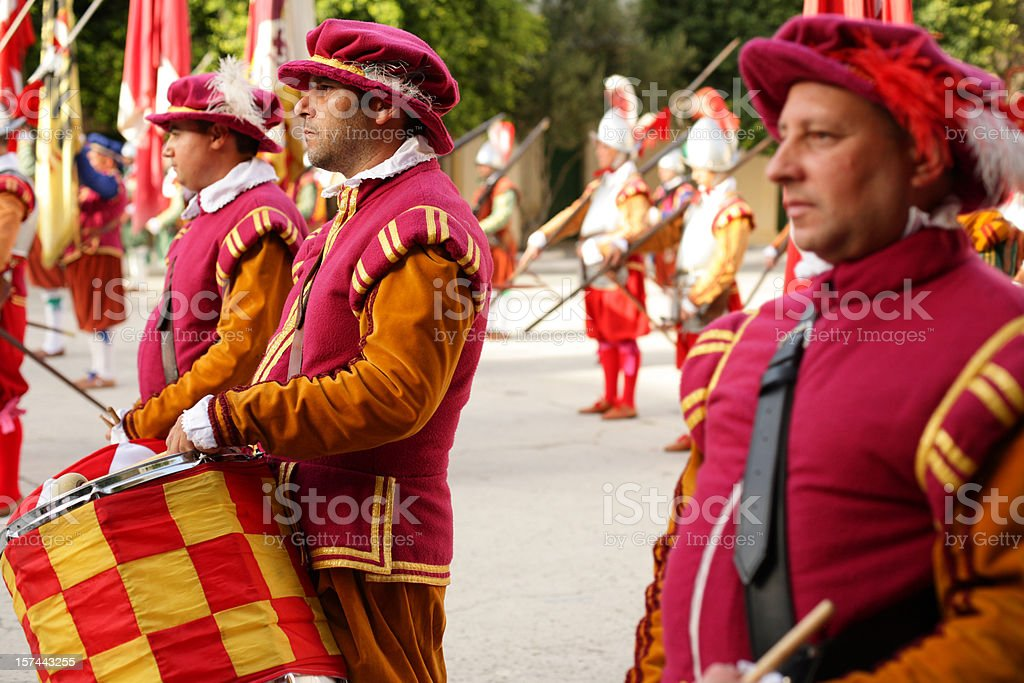 Maltese Drummers royalty-free stock photo