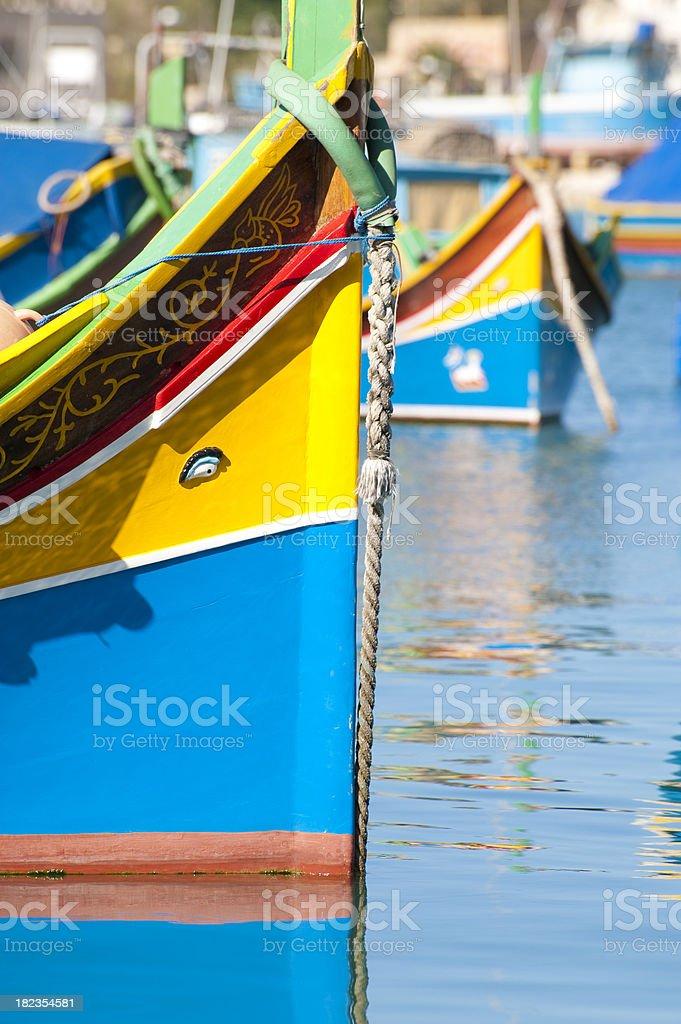 Maltese fishing boats royalty-free stock photo