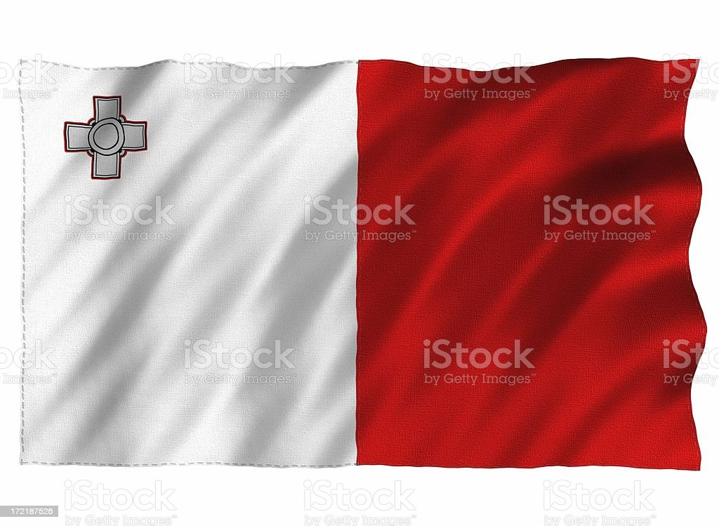 3D Maltese Flag royalty-free stock photo
