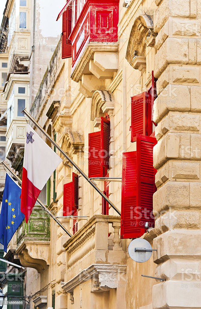Maltese Flag royalty-free stock photo