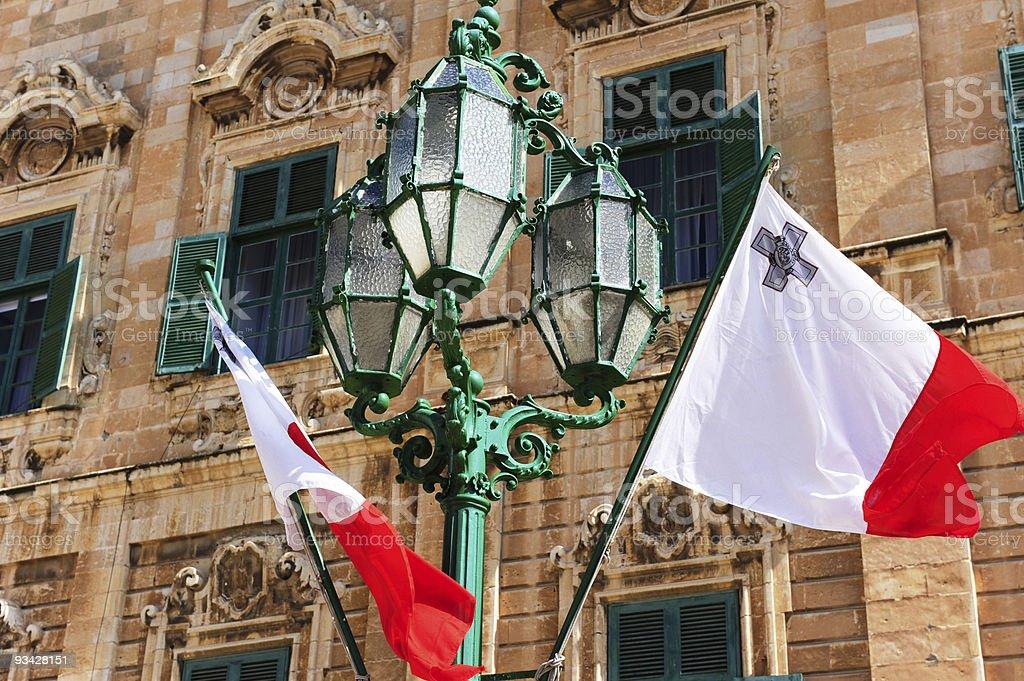 Maltese flag stock photo