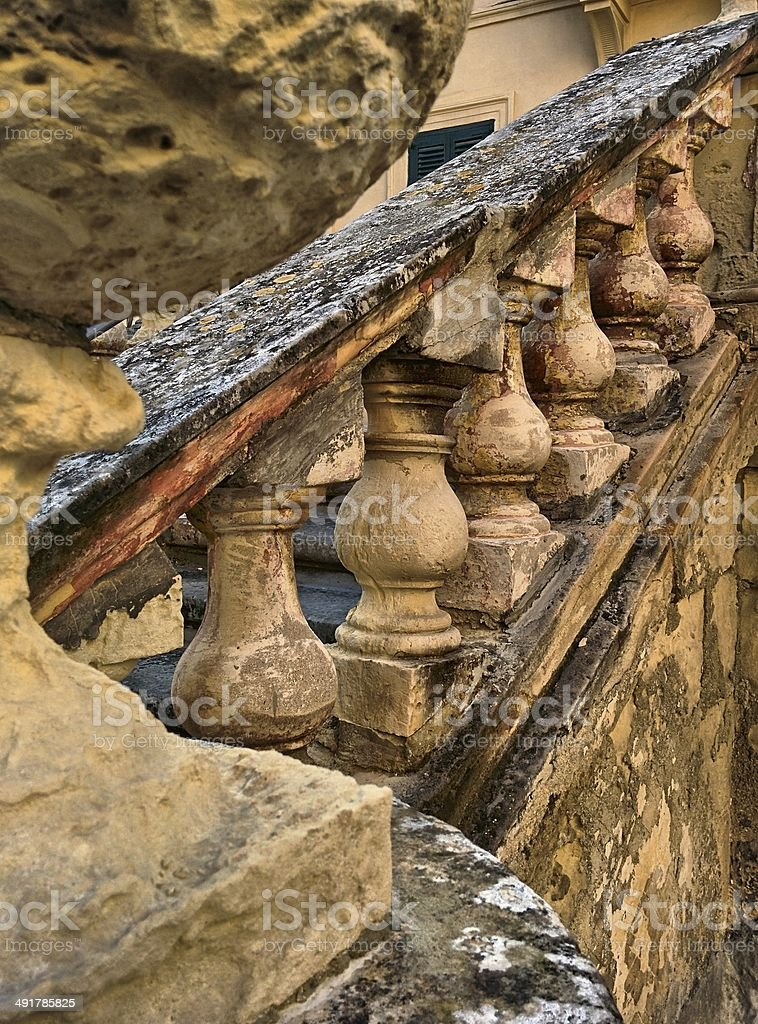Maltese Stairs royalty-free stock photo