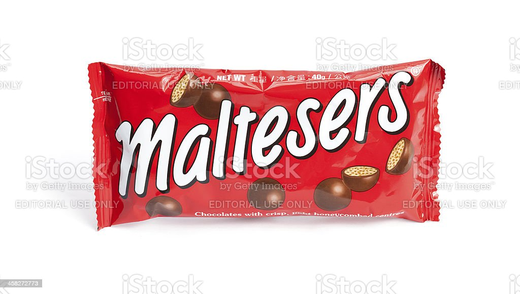 Maltesers Chocolate Candy stock photo
