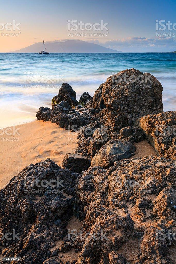 Maluaka (Makena) Beach stock photo