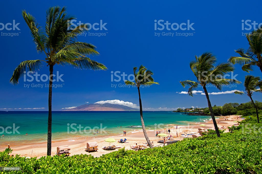 Maluaka Beach, south Maui, Hawaii, USA stock photo
