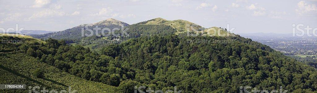 Malvern Hills in Summer stock photo