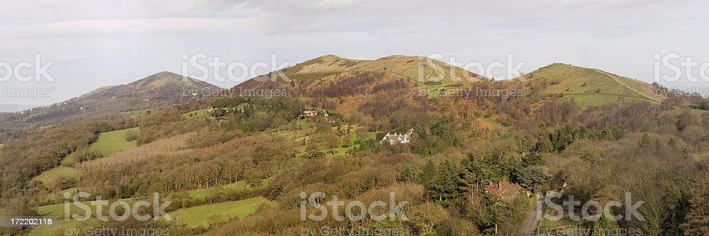 Malvern Hills panoramic view stock photo