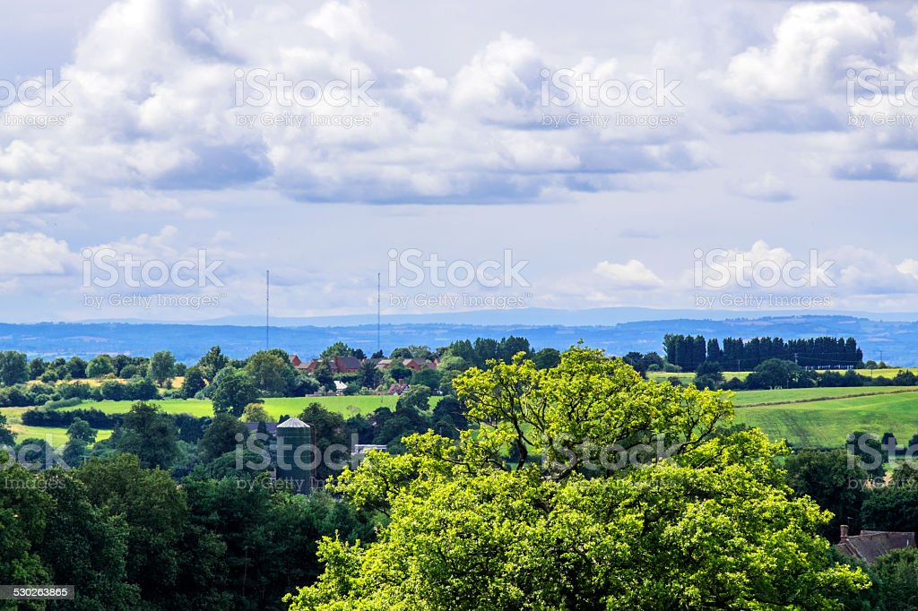 malvern hills stock photo