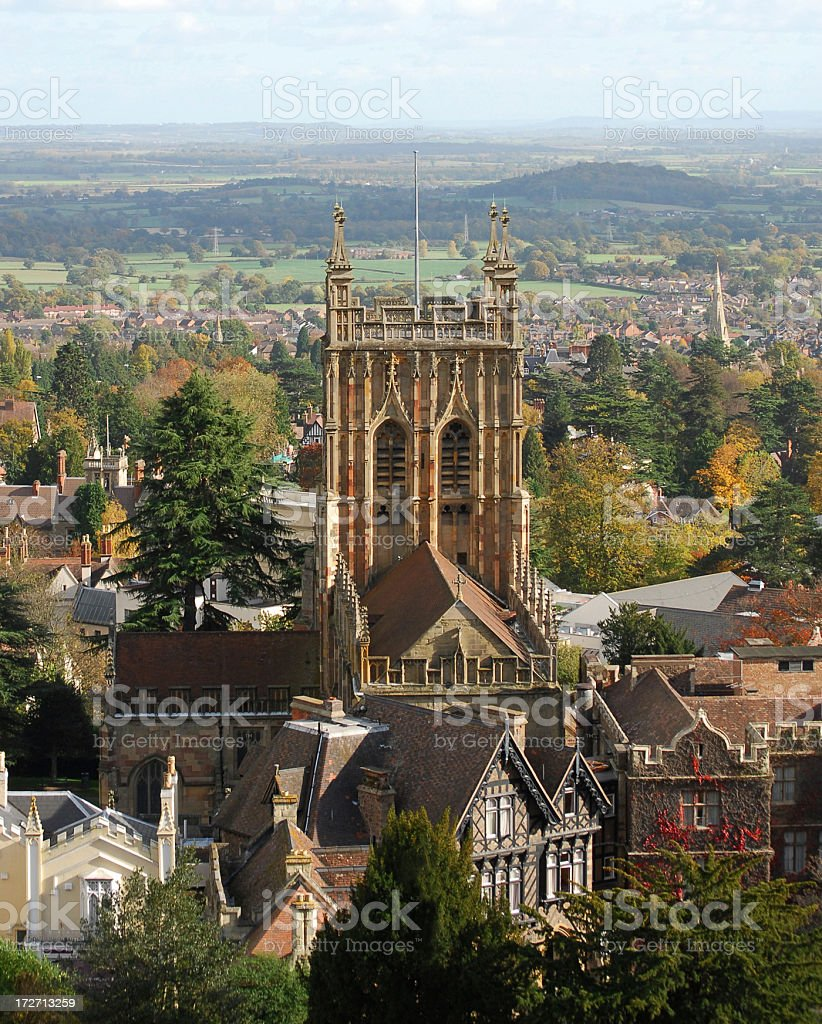 Malvern Priory stock photo