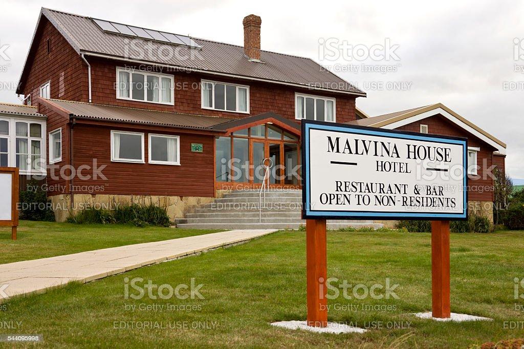 Malvina House Hotel - Stanley - Falkland Islands stock photo