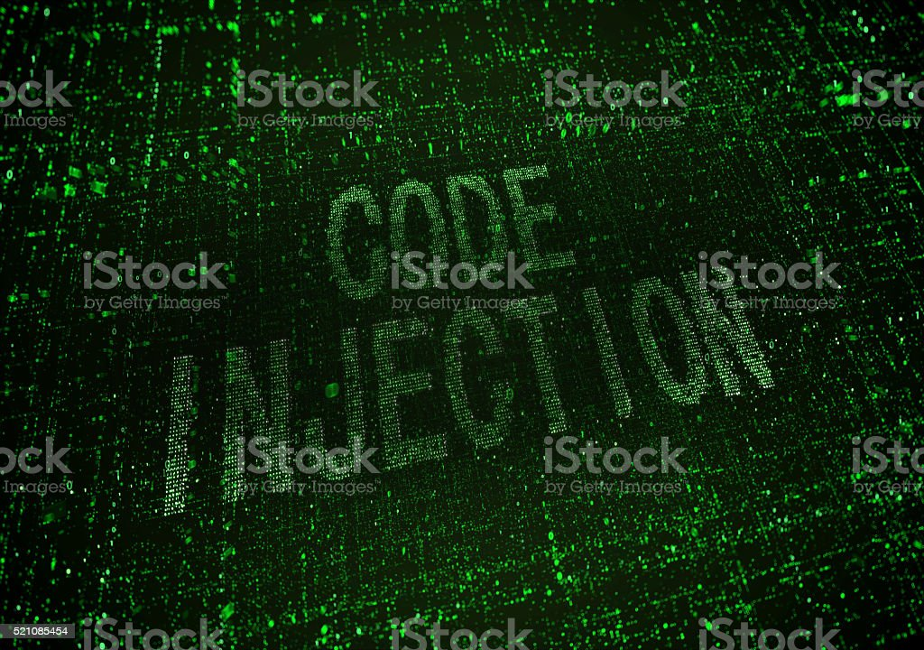 Malware Code Injection stock photo