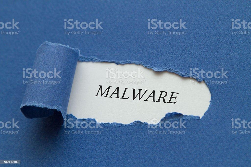 Malware stock photo