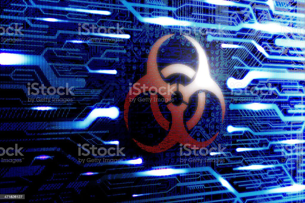 Malware Virus infected computer royalty-free stock photo