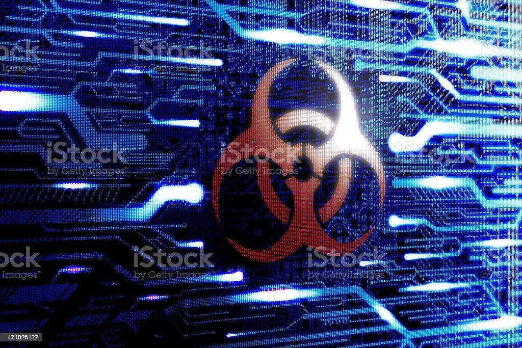 Malware Virus infected computer stock photo
