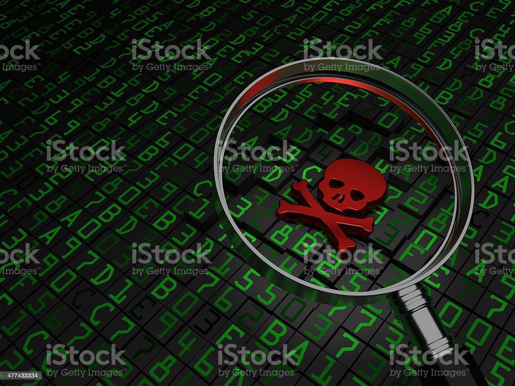 Malware Virus stock photo
