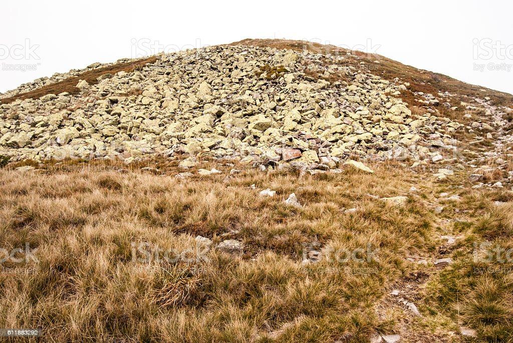 Maly Krivan hill in Mala Fatra mountain range in Slovakia stock photo