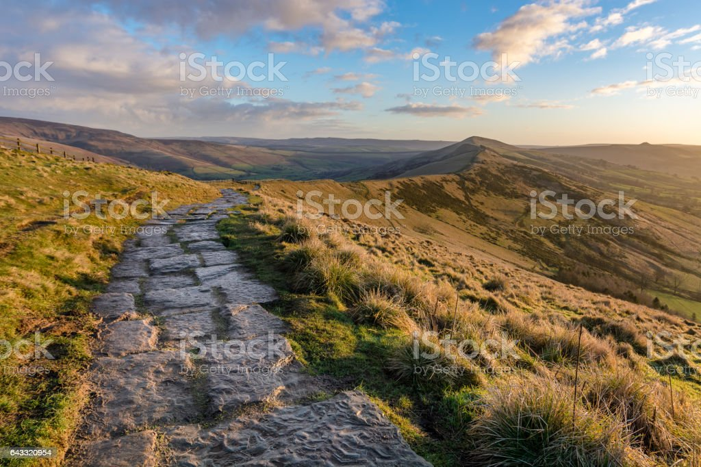 Mam Tor To Lose Hill In Peak District. stock photo