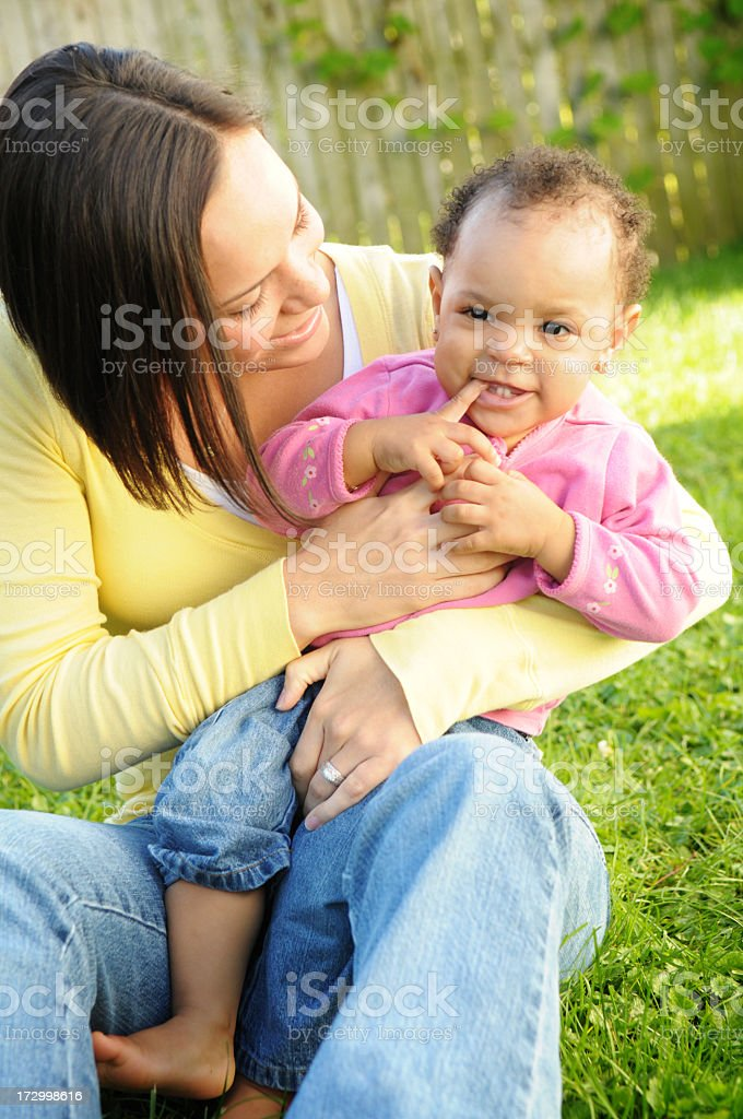 Mama & Her Girl royalty-free stock photo