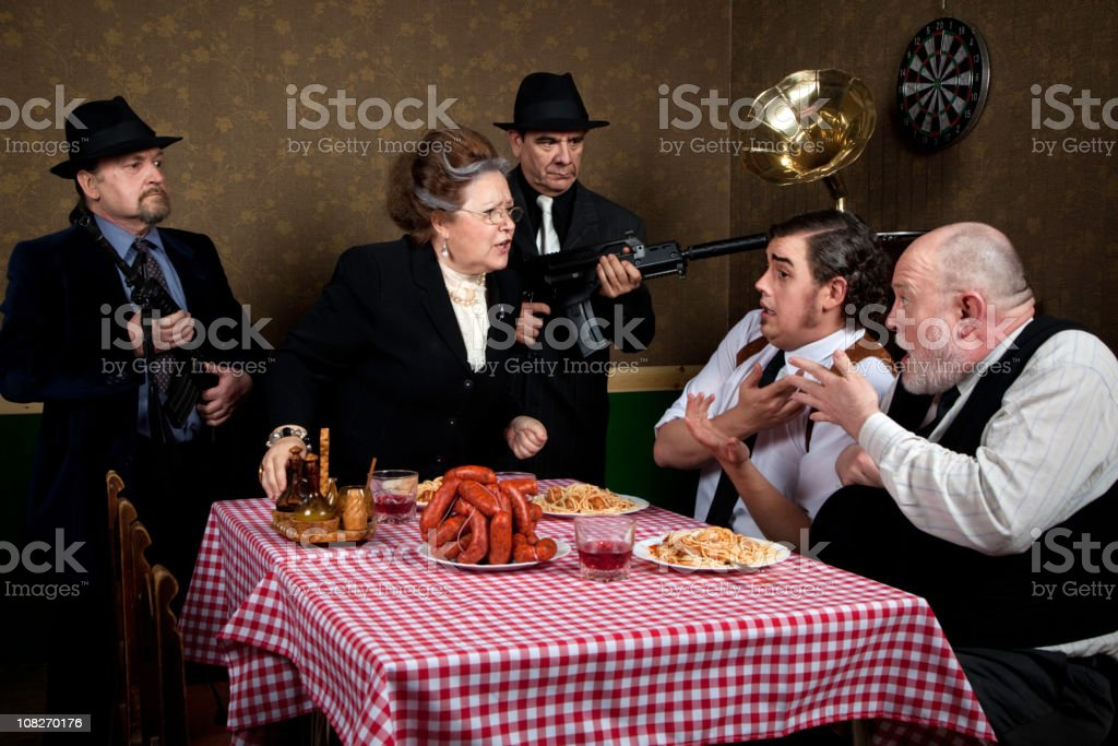 Mama mafia stock photo