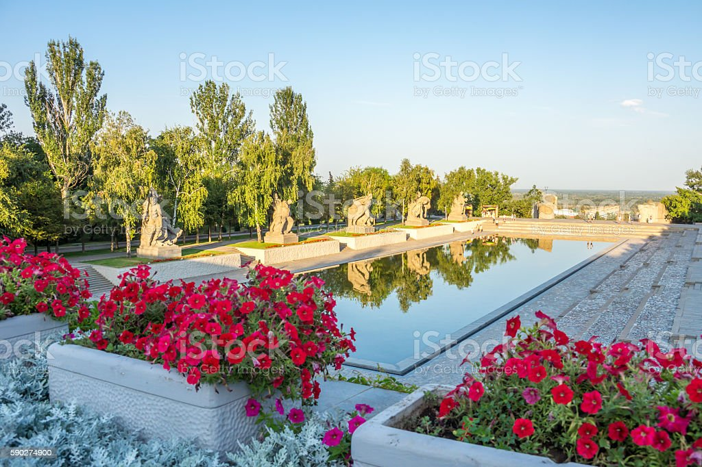Mamaev kurgan. Hero City Volgograd, Russian Federation. stock photo