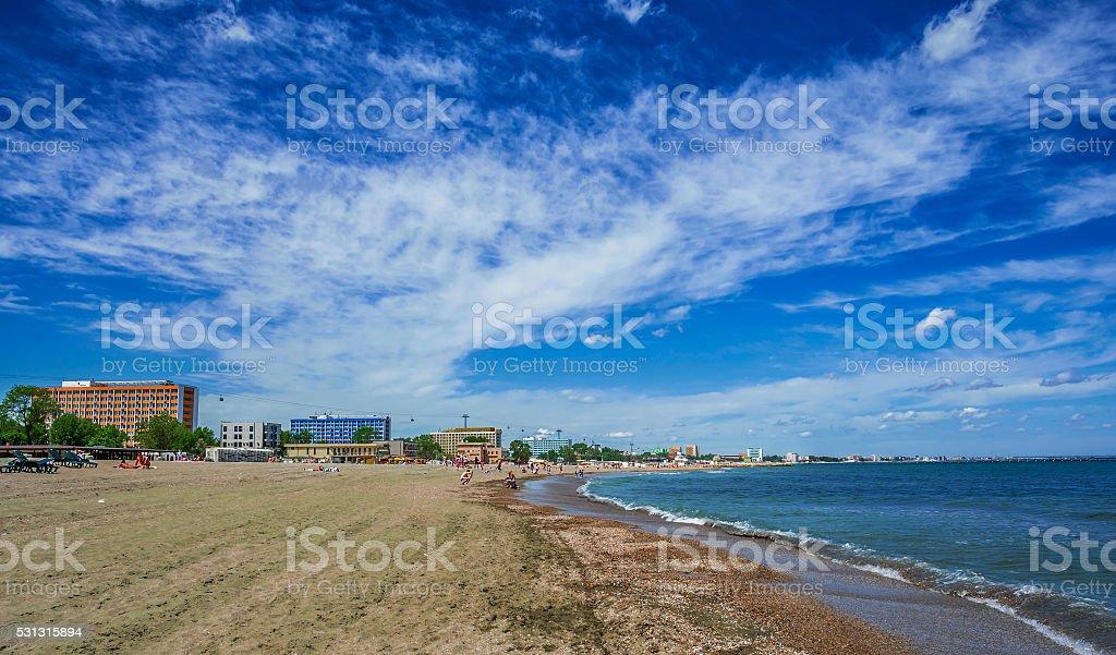 Mamaia beach, Romania stock photo