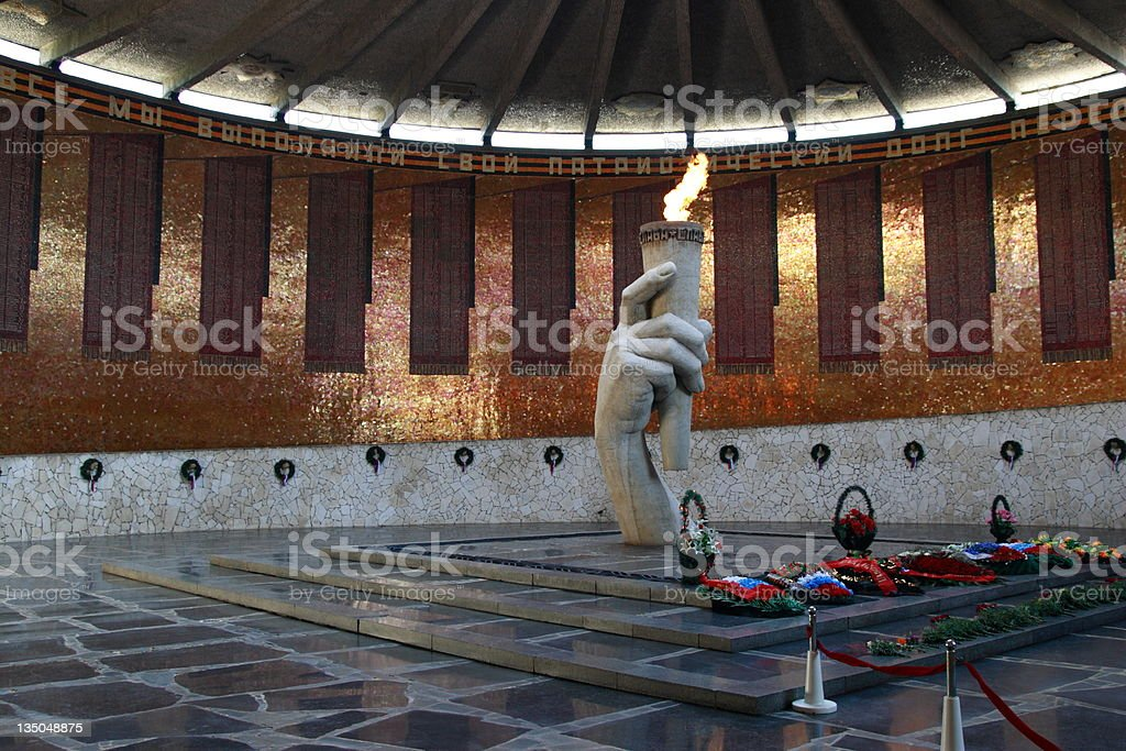 Mamayev Hill Memorial Eternal Flame royalty-free stock photo