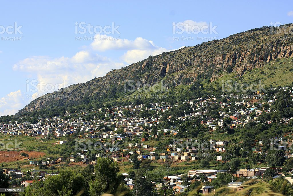 Mamelodi township in pretoria south africa. stock photo